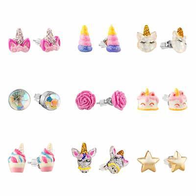 Earrings For Kids (SkyWiseWin Hypoallergenic Earrings Set for Little Girls Children's Colorful)