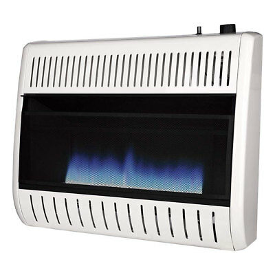 30000 Natural - Remington 30000 BTU Natural Gas Blue Flame Vent Free Thermostat Wall Heater