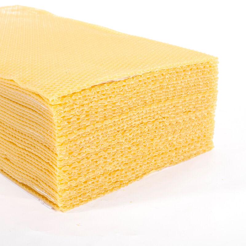 "30 Pack 7.7*16.3"" Honeycomb Wax Frames Beekeeping Foundation Honey Bee Hive Tool"