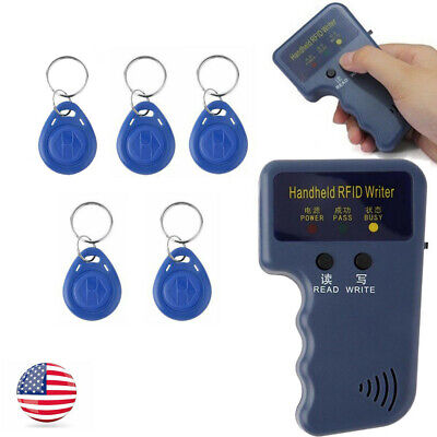 Handheld RFID Backup Copier Reader Writer Duplicator 125KHZ With 5PCS ID Tags US
