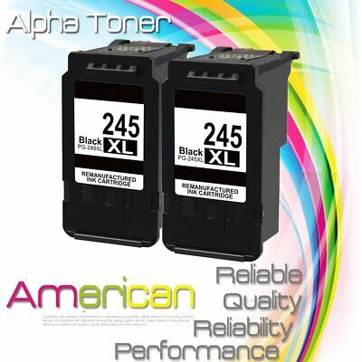2 PK PG-245XL Black Ink Cartridge For Canon PIXMA MG2520 MG3020 MX490 TS3122