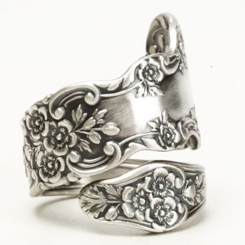 Jewellery - Fashion Rose Flower 925 Silver Jewelry Wedding Rings for Women Ring Size 6-10