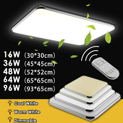 16W 36W 48W 64W 96W Modern Square LED Ceiling Light Living D