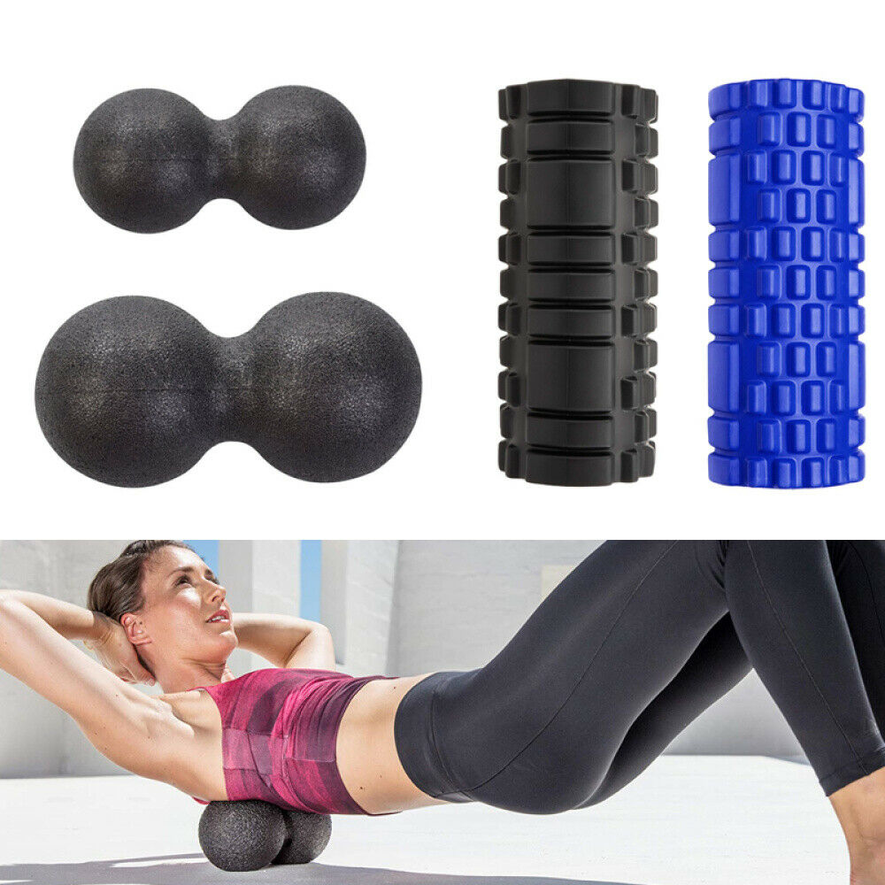 Faszienrolle Foam Roller Set Massageroller, Massagebälle, für Yoga Sport Fitness