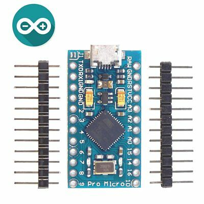Pro Micro Atmega32u4 5v 16mhz Module Board 2 Row Pin Header For Arduino Us