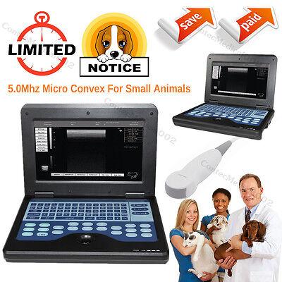 Veterinary Ultrasound Scanner Small Animals Laptop Machine Micro Convex Probe