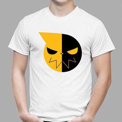 New Soul Eater Soul Logo Anime Cartoon Men's White T-Shirt Size S - 3XL