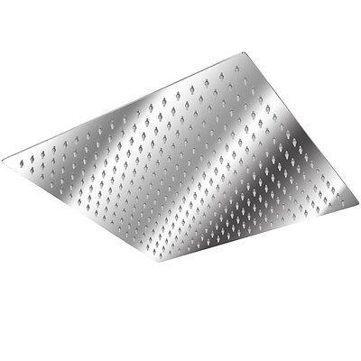 Kopfbrause Regendusche Regenbrause Brausekopf Duschkopf Edelstahl poliert 40x40