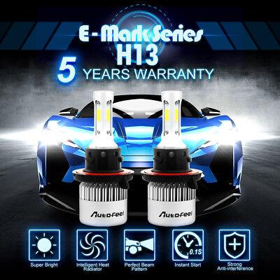 Lumileds H13 9008 LED Headlight Bulbs Kit for Ford F150  High Lo Beam 6500K 900W