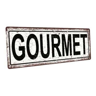 Gourmet Metal Sign; Wall Decor for Kitchen and Dinning Room