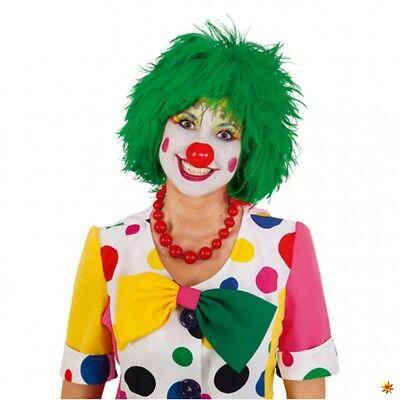 Perücke Clown grün Kurzhaar Damen Herren Clownsperücke Zirkus - Grüne Clown Perücke