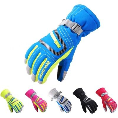 Protective Snowboard Gloves - Ski Gloves Unisex Adult Kids Waterproof Windproof Warm Snowboard Hand Protection