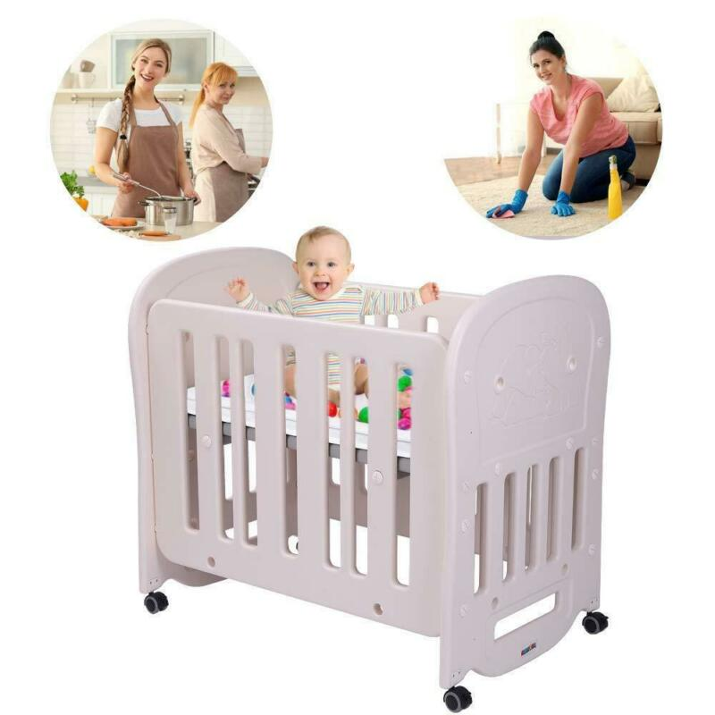 JOYMOR Baby Cradle Rocking Crib Newborn Bassinet Bed Sleeper Portable Nursery