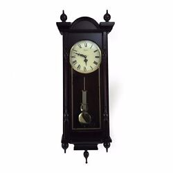 Bedford Grand 31 Mahogany Cherry Oak Grandfather Wall Clock 4 Chimes Pendulum