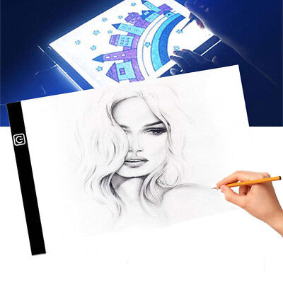 Thin LED Tracing Light Box Board Art Tattoo A4 Drawing Pad Table Stencil Display
