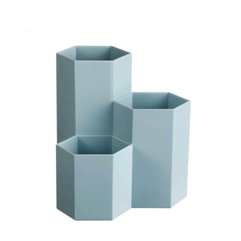 Multipurpose Plastic Pen Container Creative Hexagon Vase Des