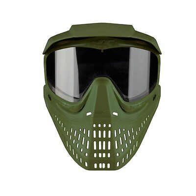 - JT Spectra Proshield with clear Thermal Lens Paintball Goggle Mask - Olive