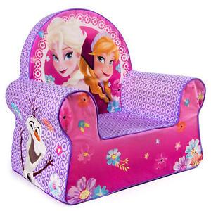 frozen chair disney girls queen elsa anna olaf soft kids bedroom furniture new. Black Bedroom Furniture Sets. Home Design Ideas