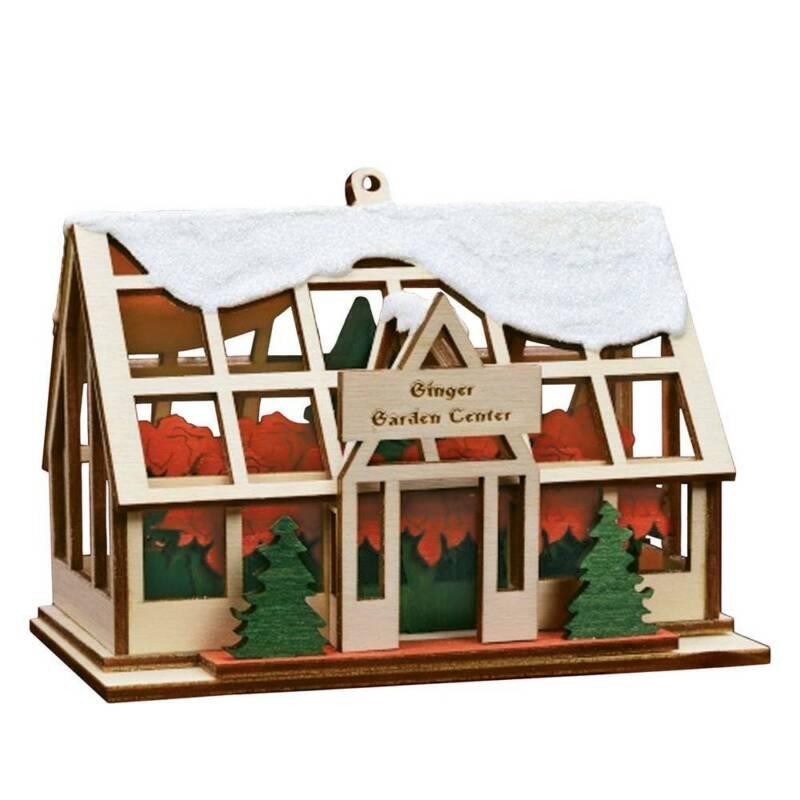 Ginger Cottage Ginger Garden Center Handmade Wooden Christmas Ornament