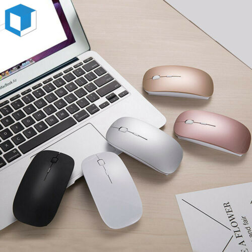 Rechargeable Silent Mini Wireless Mouse Nano Cordless Mice f