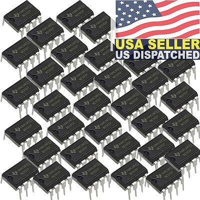 50x Texas Instruments Ne555n Ne555 Ne555p Timeroscillator Single Ic 100kh
