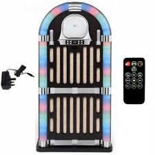 Large Mp3 Ipad Ipod Bluetooth Led Light Up Retro Party Jukebox Radio Cd Player