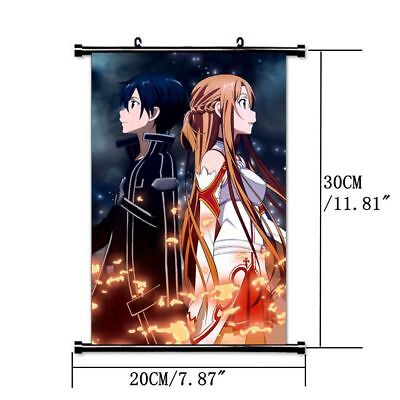HOT Anime SAO Sword Art Online Jasna Tung Wall Poster Scroll Home Decor Cosplay