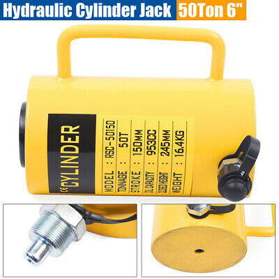 50 Tons Hydraulic Cylinder Jack 6 150mm Stroke Single Acting Telescopic Plunger