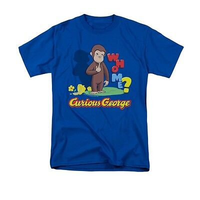 Curious George Adult Shirt (CURIOUS GEORGE WHO ME? Licensed Adult Men's Graphic Tee Shirt)