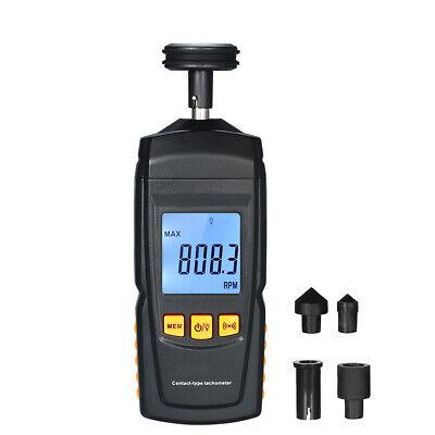 Digital Tachometer Handheld Contact Motor Tachometer Speedometer Tach Rpm Tester
