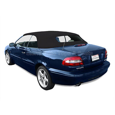 Volvo C70 Convertible Top for 1999-2006, Black German A5, Glass Window