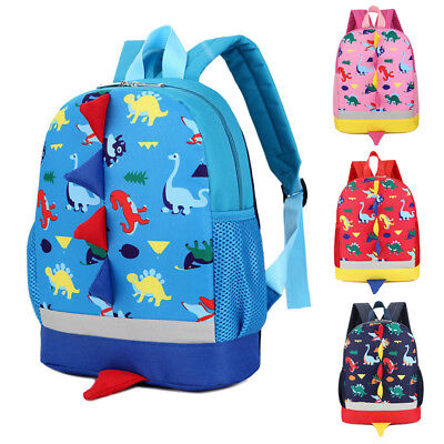 Children Boys Girls Dinosaur Pattern Animals Backpack Bookbag Travel School - Animal School