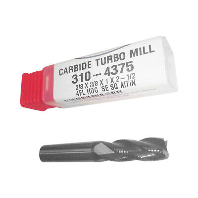 Carbide - 38 Roughing Altin Coated Turbomill Corncob Hog - Made In Usa 310-4375