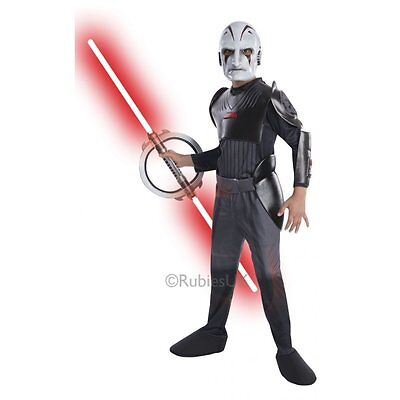 Deluxe-kids Kostüme (Disney Star Wars Rebels Inquisitor Deluxe Kids Fancy Dress Costume Licensed 3-10)