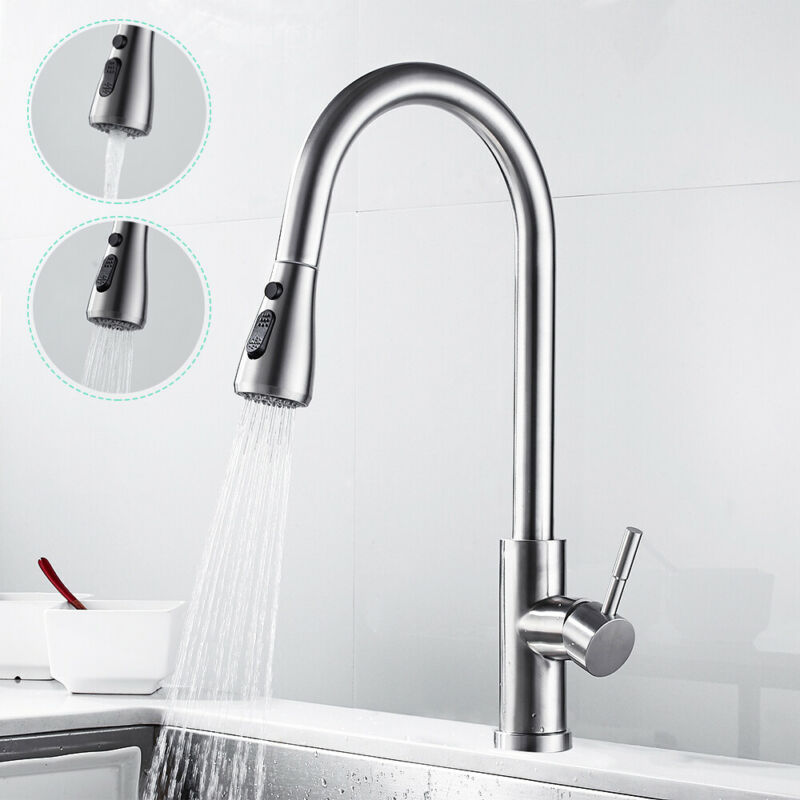 Wasserhahn Küchenarmatur Einhebelmischer Mischbatterie Armatur Wasserfall Kalt