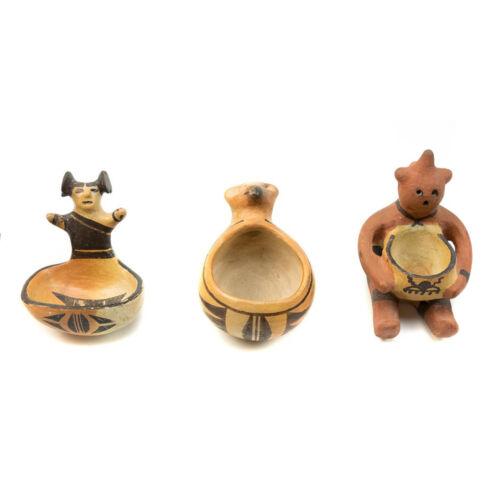 Set Of 3 Hopi Figurative Effigies, C. 1920-30