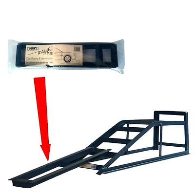 2 Tonne Metal Car / Van Ramps Heavy Duty + Low Clearence Extensions