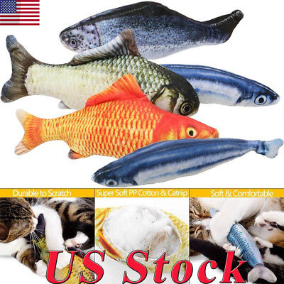Lovely Artificial Fish Plush Pet Cat Puppy Dog Toys Sleeping Cushion Fun Toy Cat - Plush Fish
