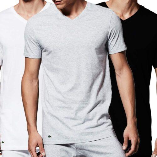RRP £50 Lacoste 3-Pack Men/'s 100/% Supima® Cotton V Neck T-Shirts