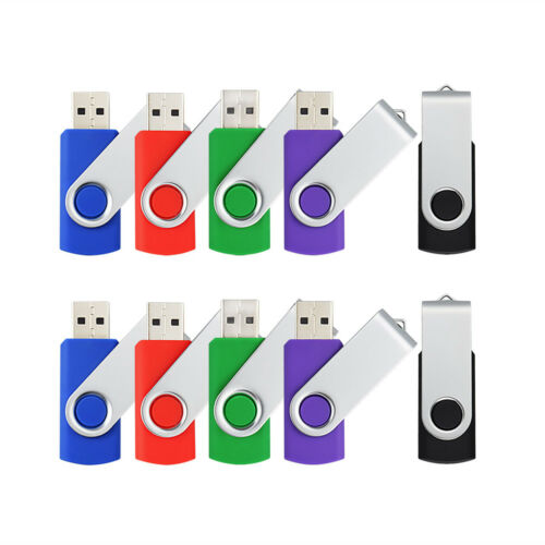 5pcs 32GB USB Flash Drives Memory Sticks USB Zip Jump Pen Thumb Drive 5 Colors