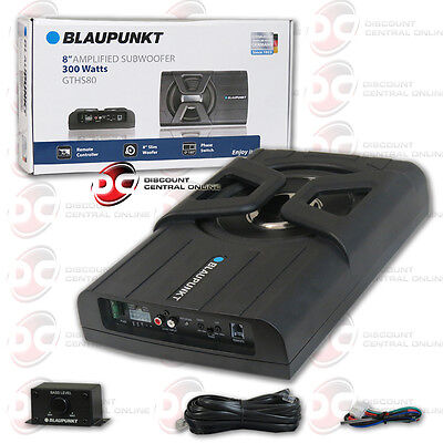 "BLAUPUNKT 8"" CAR UNDER Domicile SUPER SLIM POWERED SUBWOOFER ENCLOSED 300WATTS"
