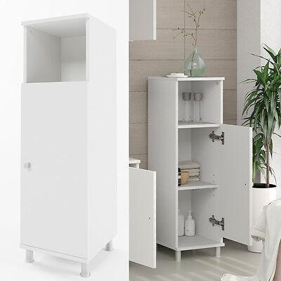 VICCO Badschrank FYNN Weiß - Midischrank Badezimmer Regal Badregal Badmöbel
