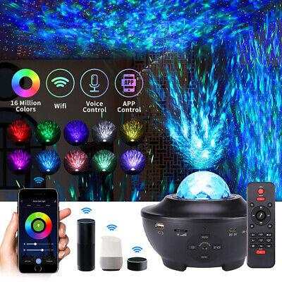 LED Galaxy Starry Sky Projector Ocean Wave Night Lamp Light Bluetooth Speaker