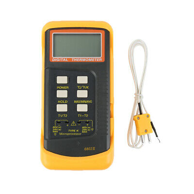 6802 Ii Dual Channel K Type Digital Thermocouple Thermometer Tester Sensor Tool