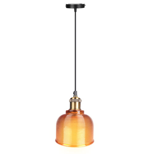 Industrial Glass Pendant Light Color Plating Ceiling Lamp Shade Hanging Fixtures 1