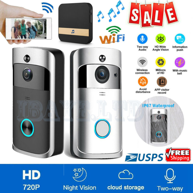 Smart Wireless Doorbell WiFi Video Phone Door Home Intercom Security Camera Bell