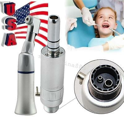 Usa 2hole Dental Low Speed Handpiece Wrench Type Contra Angle E-type Air Motor