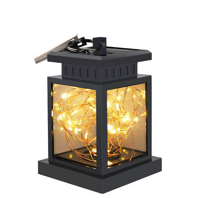 Waterproof Solar Power Lantern Hanging Lamp LED Fairy String Light Home