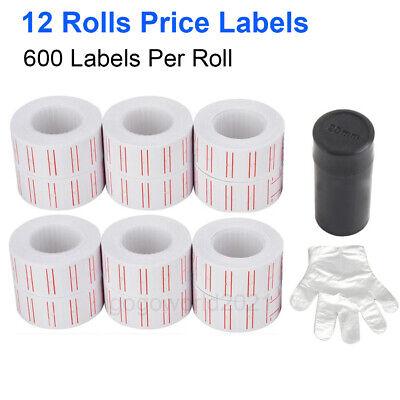 12 Rolls Price Pricing Label Paper Tag Tagging Sticker For Mx-5500 Labeller Gun