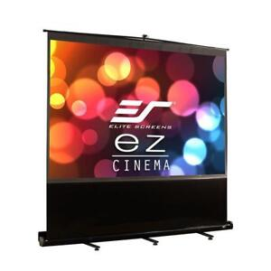 NEW Elite Screens ezCinema Series, 72-inch 4:3, Portable Floor Pull Up Projection Screen,